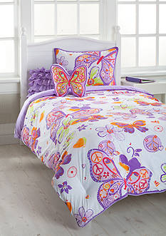 J Khaki™ Glitter Butterfly Bedding Collection