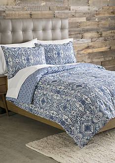 Home Accents Casual Living Tully King Reversible Duvet Mini Set