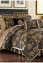 Valdosta Black Full Comforter Set 80-in. x 90-in.