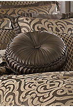 Luxembourg Mink Tufted Round Decorative Pillow 15-in.
