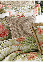 Aruba Natural Basket Weave Square Decorative Pillow 18-in. x 18-in.
