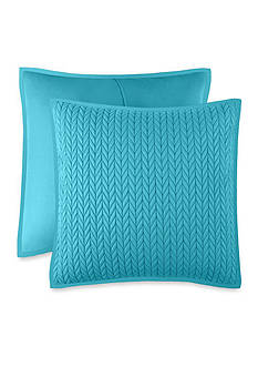 J by J Queen New York Camden Turquoise Quilted Euro Sham