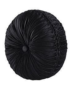 J Queen New York Bradshaw Tufted Round Decorative Pillow