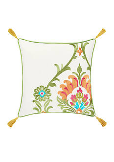 J by J Queen New York Panama Citrus 18-in. Decorative Pillow