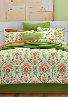 J by J Queen New York Panama Citrus Full Comforter Set