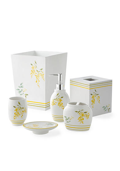 J queen new york citron lemon bath accessories belk for Queen bathroom decor