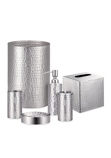 J Queen New York Pressed Metal Silver Bath Accessories