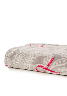 Breast Cancer Awareness Paisley Throw