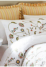 Whitney White Embroidered Standard Sham 20-in x 26-in.