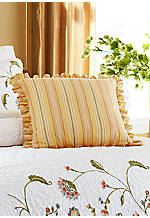 Whitney Gold Multi-Stripe Decorative Pillow 18-in. x 18-in.