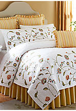 Whitney Gold Multi-Stripe Queen Bedskirt 60-in. x 80-in. + 18-in. Drop