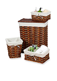 Creative Bath 4-Piece Windsor Hamper and Storage Set