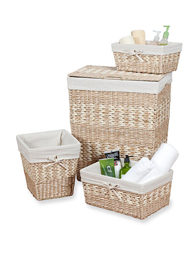 Creative Bath 4-Piece Arcadia Hamper and Storage Set