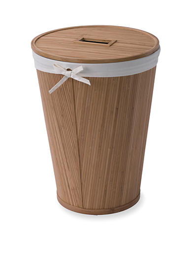 Creative bath round bamboo hamper with lid belk - Modern hamper with lid ...