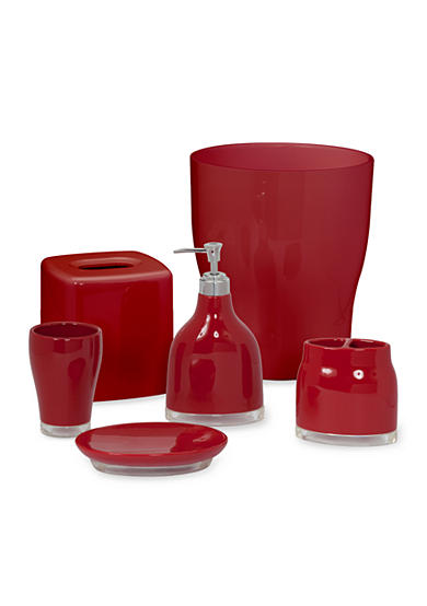 Creative bath gem red bath accessories belk for Bathroom accessories red