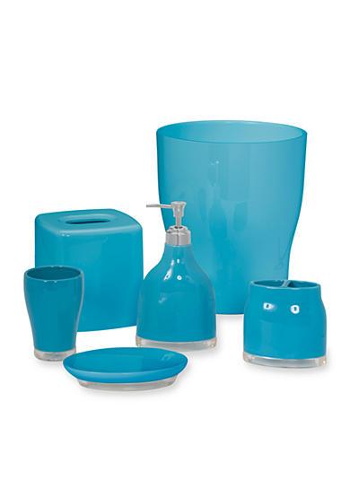 Creative bath gem turquoise bath accessories belk for Turquoise bathroom accessories