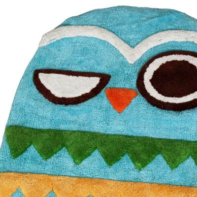 Bath Towels: Multi Creative Bath GIVE A HOOT PRINT HA