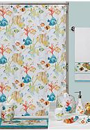 Creative Bath Rainbow Fish Shower Curtain and