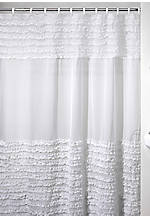 Ruffles White Shower Curtain 72-in. x 72-in.