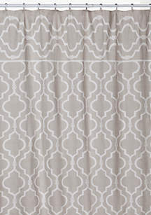 beige and gray shower curtain. Chain Link By Jennifer Adams Shower Curtain Curtains  Bath Liners Unique belk