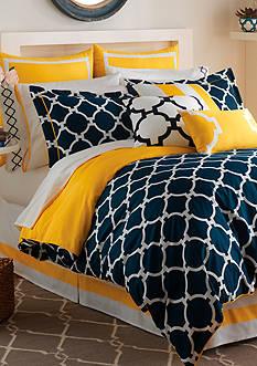 Jill Rosenwald Hampton Links Navy Full Comforter Set