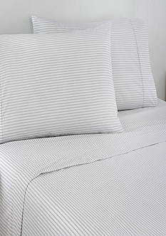 IZOD Izod Grey Tick Stripe Standard Pillowcase