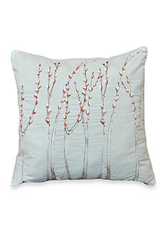 Shell Rummell Feathers Square Decorative Pillow 18x18