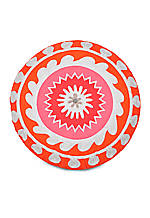 Multi Patch Coral Round Decorative Pillow 18-in.