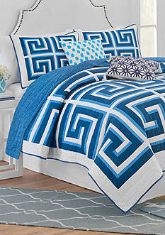 Jill Rosenwald JR GREEK KEY F/Q QUILT