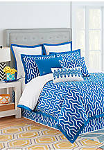 Plimpton Flame Blue Queen Comforter Set 92-in. x 96-in.
