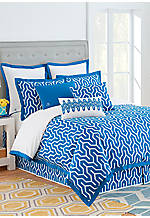 Plimpton Flame Blue Twin Comforter Set 68-in. x 90-in.