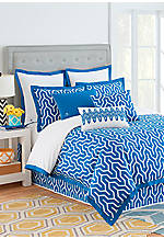 Plimpton Flame Blue King Comforter Set 96-in. x 110-in.