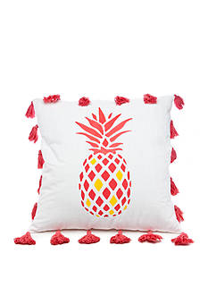 Southern Tide® COASTAL IKAT 20' POM PINAPPLE PILLOW