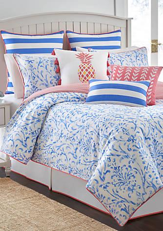 Southern tide coastal ikat comforter set belk for Southern tide bedding