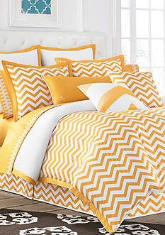 Jill Rosenwald Buckley Butter Chevron Duvet Collection