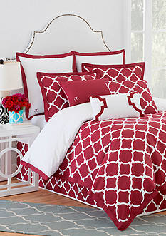 Jill Rosenwald Hampton Links Garnet Bedding Collection