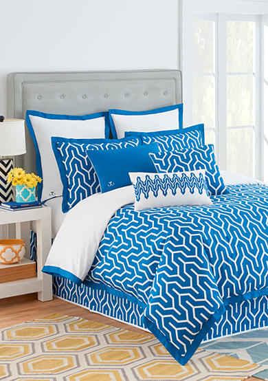 Jill Rosenwald Plimpton Flame Blue Bedding Collection