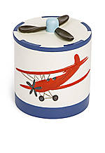 Bambini In-Flight Cotton Jar: 3.58-in. x 3.7-in. x 4.37-in.