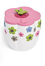Merry Meadow Cotton Jar 4.2-in. x 4.2-in. x 4-in.