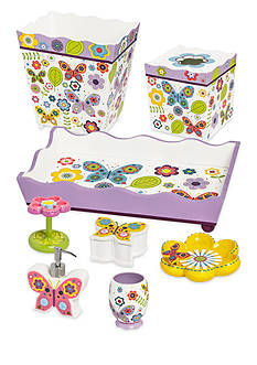 Kassatex Bambini Butterflies Bath Accessories - Online Only