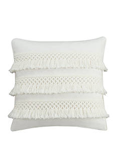 cupcakes and cashmere™ Chambray Dot Decorative Pillow