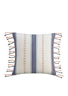 cupcakes and cashmere™ Indigo Stripe Decorative Pillow