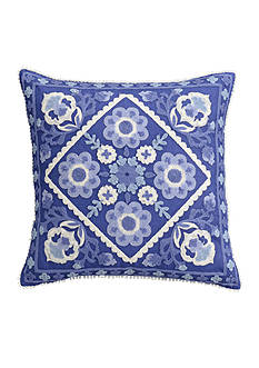 cupcakes and cashmere™ Blue Frame Decorative Pillow