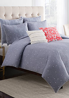 cupcakes and cashmere™ Chambray Dot Duvet Cover