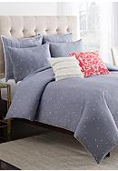 cupcakes and cashmere™ Chambray Dot Duvet