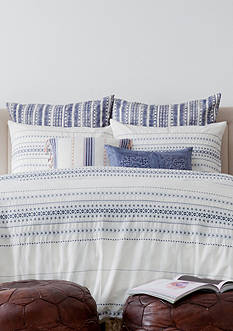 cupcakes and cashmere™ Indigo Stripe Duvet Cover
