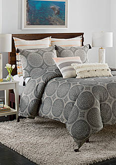 cupcakes and cashmere™ Dotted Medallion King Duvet Cover