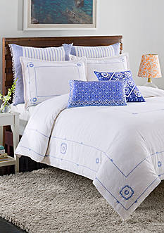 cupcakes and cashmere™ Blue Frame Duvet Cover