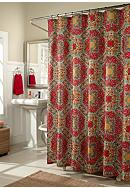 m.style Kashmir Ruby Shower Curtain