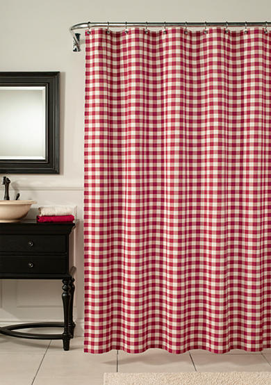 Mstyle Classic Check Barn Red Shower Curtain